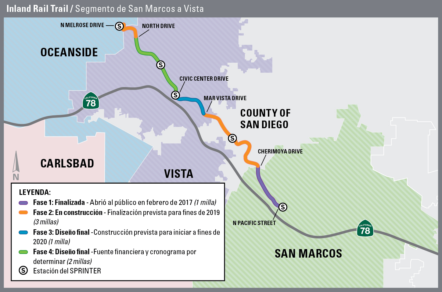 Inland Rail Trail – Project Map (Spanish)