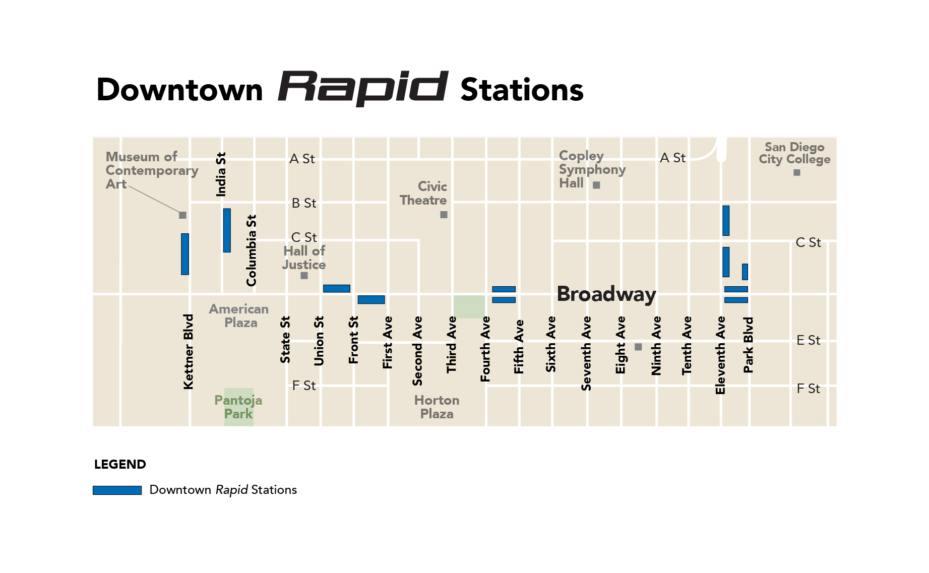 Downtown Rapid Stations Project Map