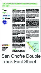 San Onofre Double Track Fact Sheet