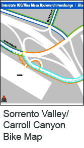 sorrento valley bike map